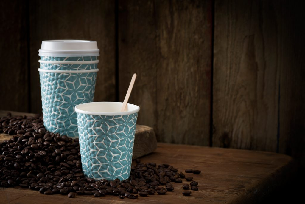 Disposable takeaway coffee cups